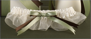 Custom Ivory Wedding Garter
