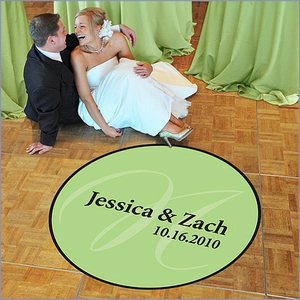 Custom Monogram Wedding Dance Floor Decal - Large (50)