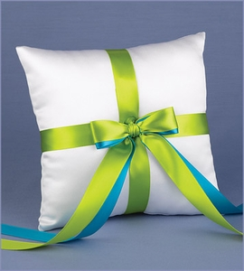 Custom White Ring Bearer Pillow