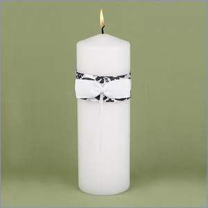 Damask Black Unity Candle