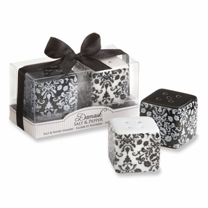 Damask Ceramic Salt & Pepper Shakers Favor