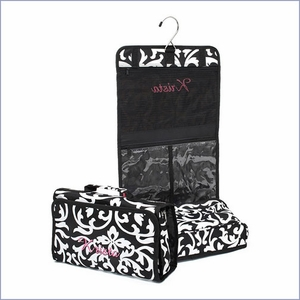 Damask Hanging Cosmetic Bag