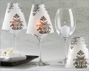 Damask Vellum Shades Wedding Table Decoration (Pack of 24)