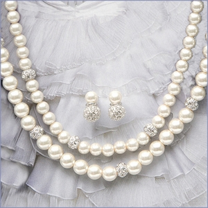 Double Pearl Strand & Earring Set