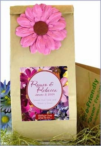 Earth Friendly Wildflower Wedding Favor Bags - Floral Designs