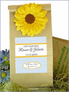 Earth Friendly Wildflower Wedding Favor Bags - Multiple Designs