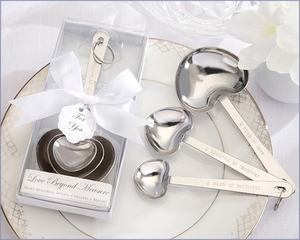 Elegant Heart-Shaped Stainless Measuring Spoons