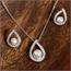 Ella CZ Teardrop & Pearl Jewelry Set