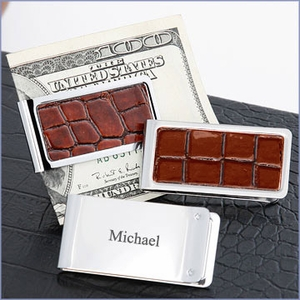 Engravable Chrome Plated Money Clip