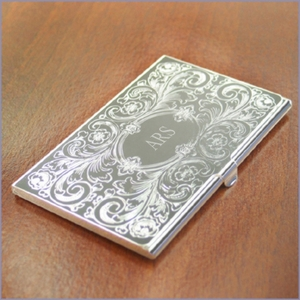 Engravable Ornate Business Case