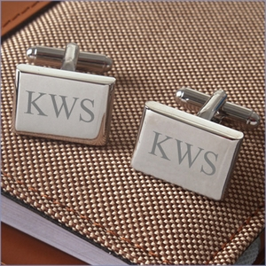 Rounded Edges Rectangular Cufflinks