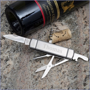 Engravable Stainless Pocket Knife