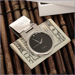 Engravable Watch Money Clip - Round Face