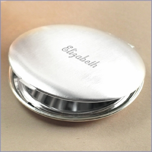 Round Satin finish Compact Mirror