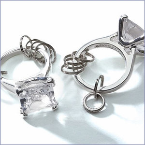 Enormous Engagement Ring Keychain