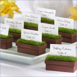 Evergreen Window Planter Place Card/Photo Holder - Set of 4