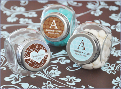 Wedding Favors Exclusive Personalized Wedding Mini Candy Jars Favors