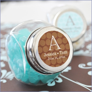 Exclusive Personalized Wedding Mini Candy Jars Favors