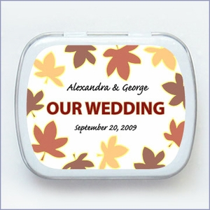 Fall Collection Wedding Mint Tin Favors