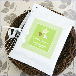 Fall for Love Personalized Hot Cappuccino Wedding Favors