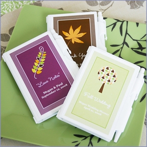 Fall for Love Personalized Notebook Wedding Favors