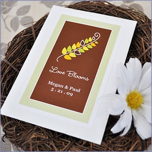 Fall for Love Personalized Wildflower Seed Wedding Favors