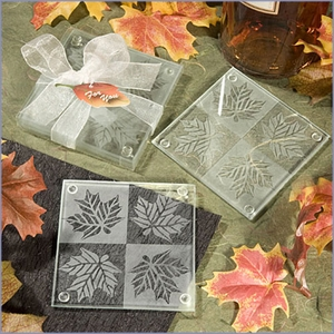 Fall Themed Coaster Wedding Favors