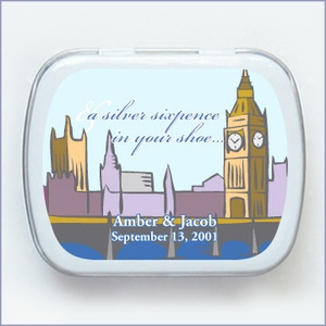 Famous Landmark Colletion Wedding Mint Tin Favors