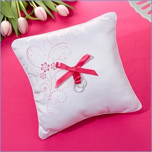 Flourishing Pink Flower Ring Pillow
