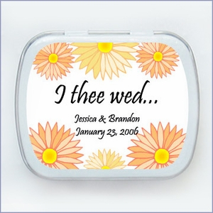 Flower Collection Wedding Mint Tin Favors