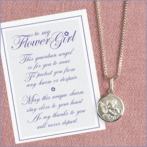Guardian Angel Flower Girl Necklace