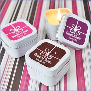 Gift Box Personalized Candle Tins Wedding Favors