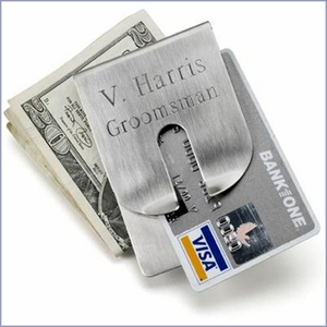 Groomsmen Art Form Money Clip