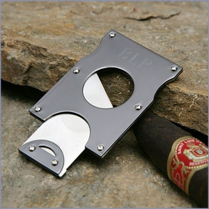 Guillotine Gunmetal Cigar Cutter