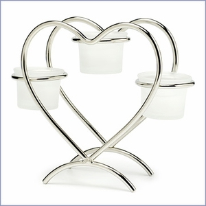 Heart Candle Holder Wedding Centerpiece