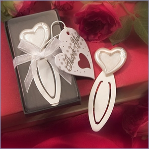 Heart Shaped Bookmarks Favors