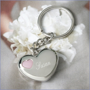 Heart Shaped with Led Light Keyring