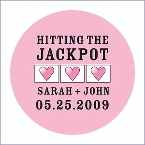 Jackpot Mini Personalized Stickers
