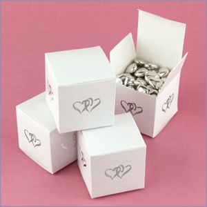 Joined Hearts Favor Boxes - Set of 25
