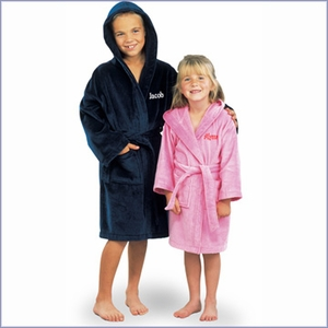 Kids Terry Velour Hooded Bath Robe