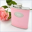 Leather Wrapped Flask Personalized Bridesmaids Gift - Pink