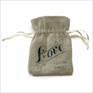 Linen Love Favor Bag - Pack of 12