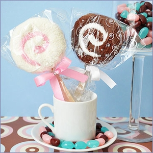 Lollipop Towel Wedding Favors