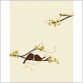 Love Bird Wedding Note Card (Set of 6)