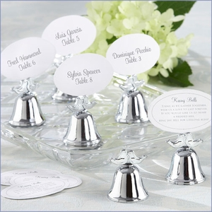Love Birds Bell Place Card Holder