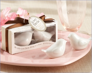 Love Birds Salt & Pepper Shakers Wedding Favors