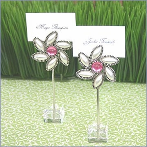 Love Blooms Flower Place Card Holders (set of 12)