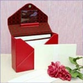 Love Letter Red Leather Stationary Set