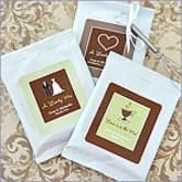 Lovely Mix Personalized Hot Cappuccino Wedding Favors