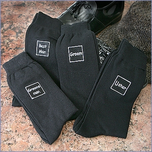 Men's Bridal Party Socks - Black